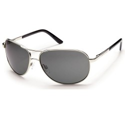 Image from Suncloud Aviator Silver Sunglasses