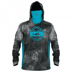 Image from Pelagic Exo-Tech +50 UPF Long-Sleeved Hoodie with Face Shield (Men's)