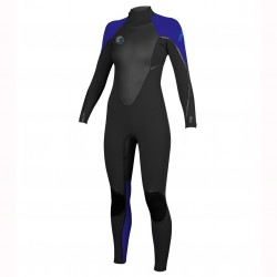 Image from O'Neill D-LUX 3Q-Zip 3/2 Fluid Seam Weld Full Wetsuit (Women's)