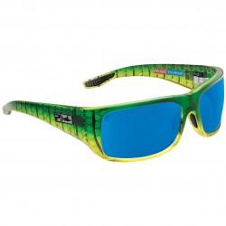 Image from Pelagic Fish Hook Ltd Sunglasses (Men's) - Dorado/Blue Mirror