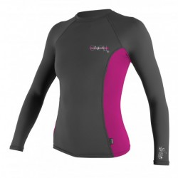 Image from O'Neill Skins +50 UPF Long-Sleeve Crew Rashguard (Women's)