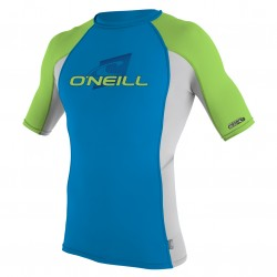 Image from O'Neill Skins Crew Tight Fit +50 UPF Short Sleeved Rashguard (Youth)