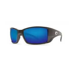 Image from Costa Blackfin Polarized Sunglasses - Matte Black Blue Mirror