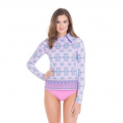 Image from Cabana Life Bora Bora Zipper +50 UPF Long-Sleeved Rashguard (Women's)