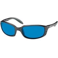 Image from Costa Del Mar Brine Polarized Sunglasses 580G- Black Blue Mirror
