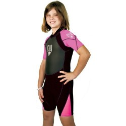 Image from EVO 2mm Shorty Wetsuit - Pink (Kids')