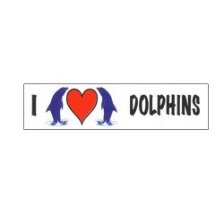 Image from I Love Dolphins Bumper Sticker
