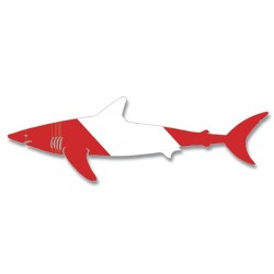 Image from Dive Flag Shark Decal