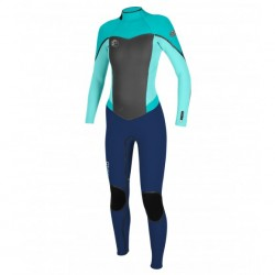 Image from O'Neill Flair 3/2MM Full Wetsuit with Fluid Seam Weld and Z.E.N. Zip (Women's)