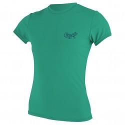 Image from O'Neill Basic Skins +50 UV Short Sleeved Rashguard (Women's)