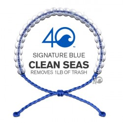 Image from 4Ocean Recycled Conservation Bracelet (Unisex) - Blue Signature