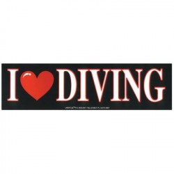 Image from I Love Diving Bumper Sticker