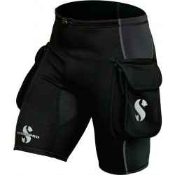 Image from Scubapro 1MM Hybrid Thermal Plush Cargo Shorts (Mens)