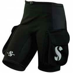 Image from Scubapro 1MM Hybrid Thermal Plush Cargo Shorts (Womens)