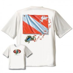 Image from Amphibious Outfitters Frog Flag T-Shirt