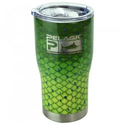 Image from PELAGIC Dorado Double-Walled Stainless-Steel Sip Top Tumbler - 20oz Dorado Green