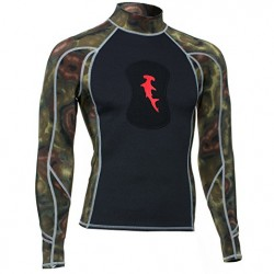 Image from HammerHead 1MM Ambush Long-Sleeved Spearfishing Rashguard with Loading Pad (Men's)