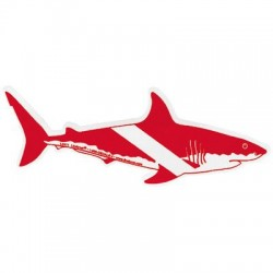 Image from Large Shark Bumper Sticker