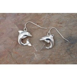 Image from STERLING SILVER DOLPHIN EARRINGS