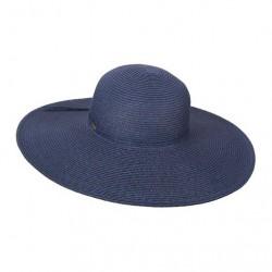 Image from Dorfman Scala Big Brim Paper Braid Hat (Women's)