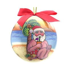 Image from Santa Drink at Beach Ornament