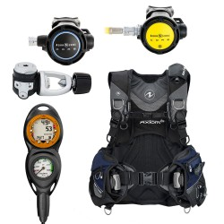 Image from Used Aqua Lung Axiom i3 BCD Package with Suunto Zoop 2 Gauge, Aqua Lung Core Scuba Regulator, and Core Octo