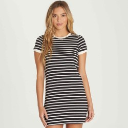 Image from Billabong Go Around Striped Mini Dress (Women's)