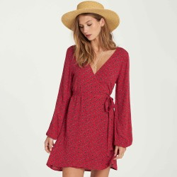 Image from Billabong Love Warrior Wrap Mini Dress (Women's)