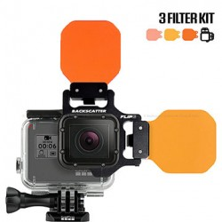 Image from Backscatter Flip6 Three Filter Underwater Color-Correction Shallow, Dive & Deep Kit for GoPro
