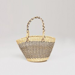 Image from Amuse Society Goodie Woven Straw Reed Basket (Women's)