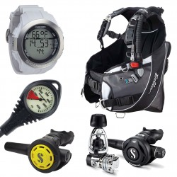 Image from ScubaPro Bella Scuba Package (Women's) with MK21/S560 Regulator, R095 Octopus, and Chromis Wrist Dive Computer