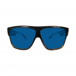 Image from Pelagic Regulator Sunglasses - Blackoak Frames with Cobalt Mirror Lenses
