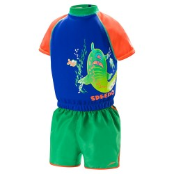 Image from Speedo Begin to Swim UPF 50+ Polywog Suit (Kids') Multi Blue Orange