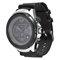 Image from Freestyle Hammerhead Chrono XL Dive Watch - Black/Black