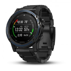 Image from Garmin Descent Mk1 Titanium Bezel GPS Compact Wrist Dive Computer and Fitness Smartwatch - Gray Sapphire with DLC Titanium Band
