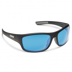 Image from Suncloud Cover Polarized Polycarbonate Sunglasses - Matte Black/Blue Mirror