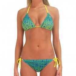 Image from Pelagic Dorado Adjustable Triangle Bikini Top (Women's) - Dorado Green