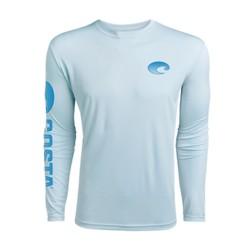 Image from Costa Technical Crew UPF 50+ Long-Sleeve Shirt (Men's) Artic Blue