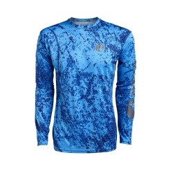 Image from Costa Technical Hexo Long Sleeve Shirt (Men's) - Camo Blue