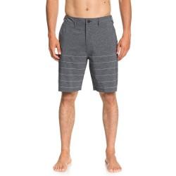 "Image from Quiksilver Union Stripe Amphibian 20"" Hybrid Shorts (Men's) - Black"