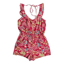 Image from Roxy Temple of the Tropics Strappy Romper (Women's) Cardinal
