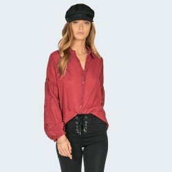 Image from Amuse Society Everyday Love Woven Top (Women's) Crimson