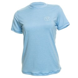 Image from EVO Malibu UPF 50+ Short-Sleeve Sunshirt (Women's) Heather Blue