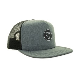 Image from EVO Boyd 5 Panel Mesh Trucker Snapback Cap (Men's) Heather Gray