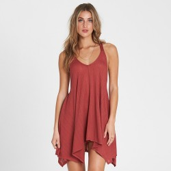 Image from Billabong Twisted View T-Back Sun Dress (Women's) Redwood