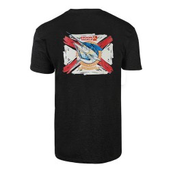 Image from Hook & Tackle Reel Southern Florida Flag Premium Reserve Fishing Short-Sleeve T-Shirt (Men's) Charcoal Heather