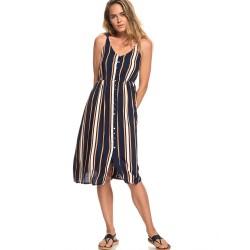 63a73172b9 Image from Roxy Sunset Woven Dress (Women's) Dress Blue Macy Stripe