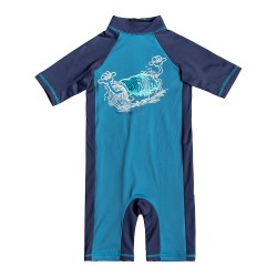 Image from Quiksilver One-Piece Spring UPF 50+ Short-Sleeve Rashguard (Boys') Medieval Blue