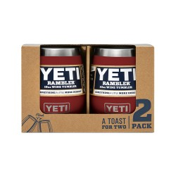 Image from Yeti Rambler 10 Oz Wine Tumbler 2-Pack Brick Red