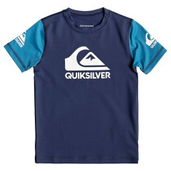 Image from Quiksilver Heats On UPF 50+ Short-Sleeve Rashguard (Boys')  Medieval Blue